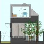 Small Houses with a Large Dormer_ Garden Elevation